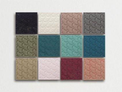 zante glitter obklady reliefni plasticke retro jednobarevne 03