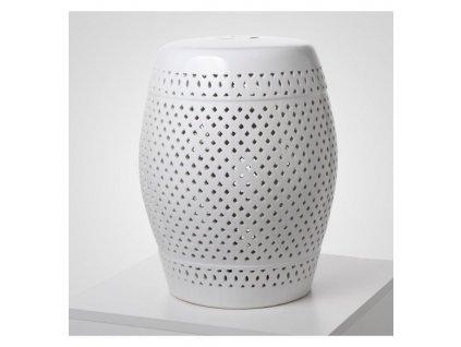 stolek keramicky bily leskly sito vinciprojekt