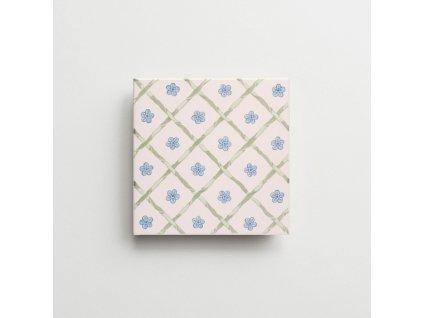 obklady rucne malovane modry dekor verbena petite iii 05
