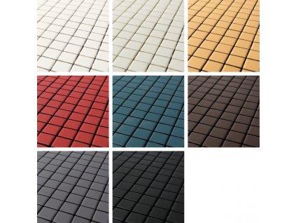 matt mozaika matna jednobarevna ctvercova matt barvy