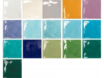 krakle 15x15 obklady do koupelny kuchyne barevne jednobarevne