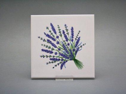 obklady bylinky obtisky malovane bila lesk levandule