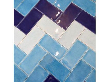 Obklad do interieru lesklý krakelovaný jednobarevný 7,5x15 kraklé