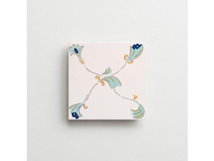 obklady rucne malovane modry dekor Amalfi iii