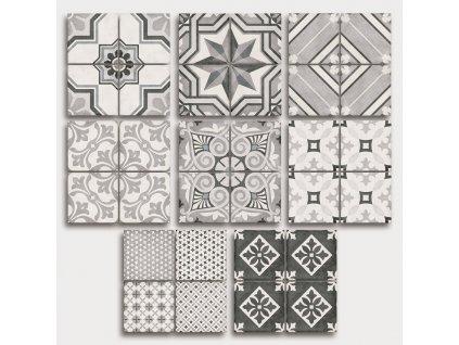 art noveau grey obklady dlazba historicke dekory 20x20 01