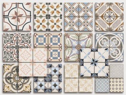 art noveau colours obklady dlazba historicke dekory 20x20 01