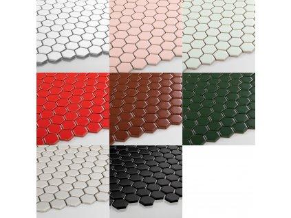 hexagon maly mozaika jednobarevna matna