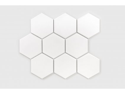 mozaika do interieru bila leskla hexagon xl 2