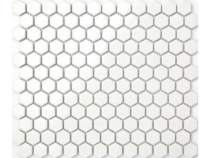 mozaika bila hexagonalni mala na siti leskla 01
