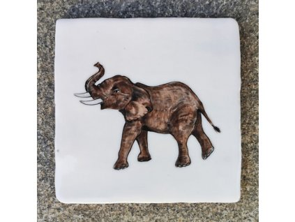 obklady rucne malovane handmade slon selske 01
