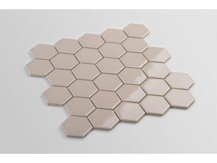 mozaika hexagon velky bezova kremova hneda cafe late leskla 06