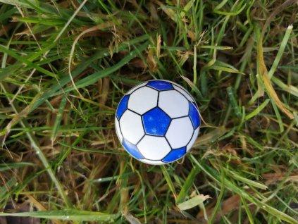 uchytka keramicka porcelanova nopka malovana fotbalovy mic