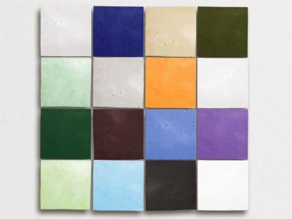 zellige obklady hlinene handmade glazovane jednobarevne 10x10 02