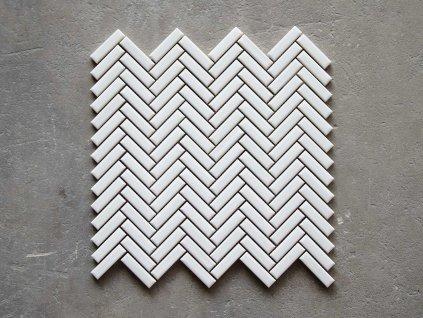 malla chewron white mozaika obdelnik rybi kost bila 03