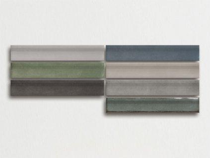 omnia moldura obklady obdelnik jednobarevne 7 5x30 lesk retro metro
