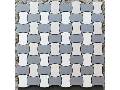 Butterfly Full Body Decoro B mozaika piškot - plato 30x30 mat