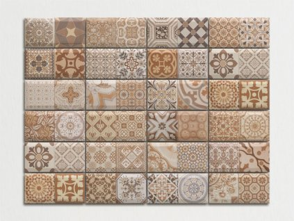 antique marron obklady spanelske do kuchyne dekory patchwork 03
