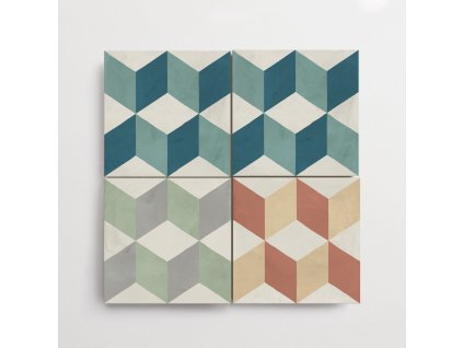 terra art cubo dlazba 20x20 dekor 3D kostka historicka 01