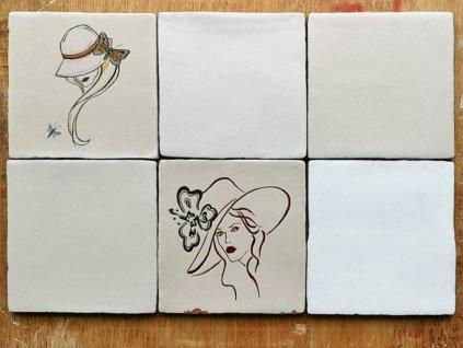 rucne malovane obklady selske malir jv damy zeny portrety