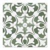 Dlažba do interiéru a exteriéru dekorovaná matná 15x15 Aquarel Decoro Sirius Verde
