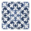 Dlažba do interiéru a exteriéru dekorovaná matná 15x15 Aquarel Decoro Sirius Blu