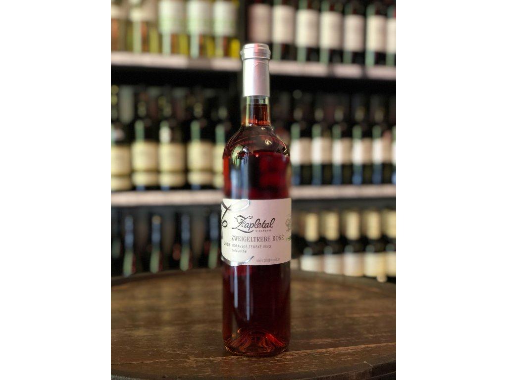 Zweigeltrebe rosé, Zapletal, Moravské zemské víno