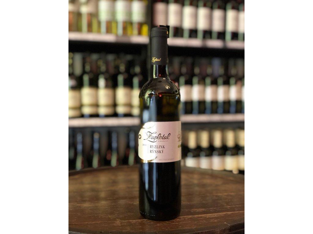 Ryzlink rýnský, Zapletal, Moravské zemské víno