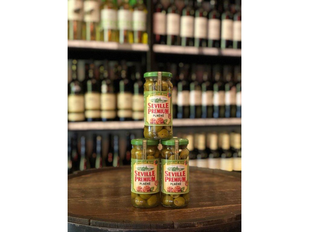 Zelené olivy plněné ančovičkou 235 g