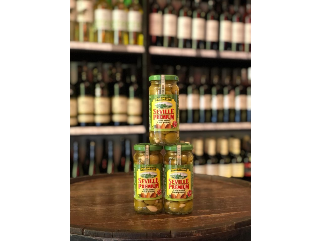 Zelené olivy plněné mandlí 235 g