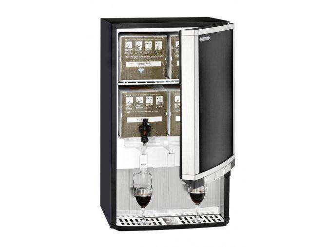 GCBIB30 offen mit Regal, Weinkartons und Gläsern links