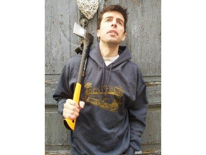 Mikina BREJLOVEC - šedá s kapucí