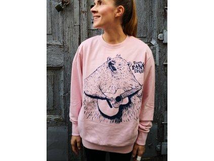 Mikina MEDVĚD - růžová
