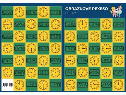 Obrázkové Pexeso hodiny A3