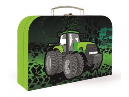 Kufřík na výtvarné potřeby - traktor