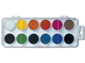 Vodové barvy 12 barev