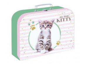 Kufřík na výtvarné potřeby - kočka
