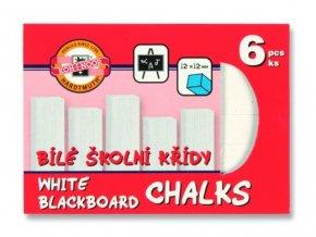 Křídy - bílé - 6 ks