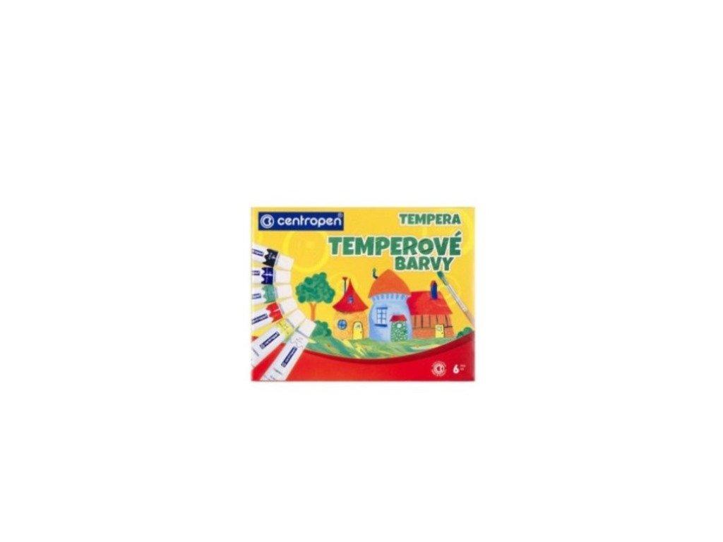 Temperové farby - 6 ks