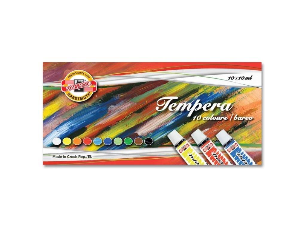 Temperové farby - 10 ks