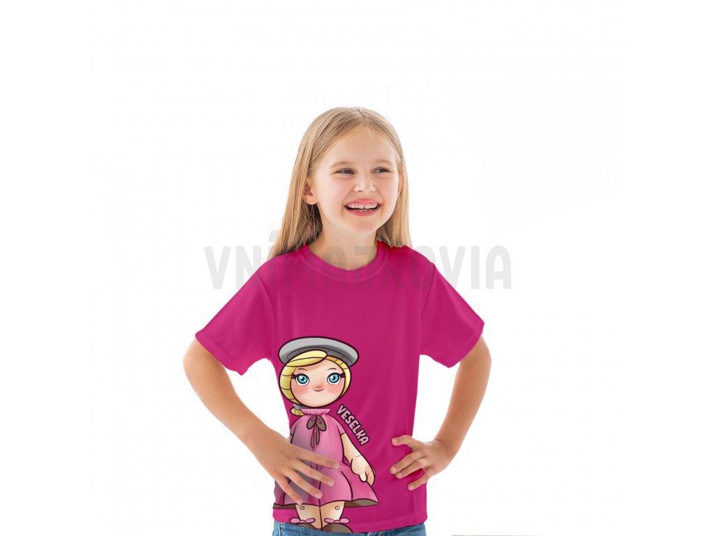 Veselka ružové detské