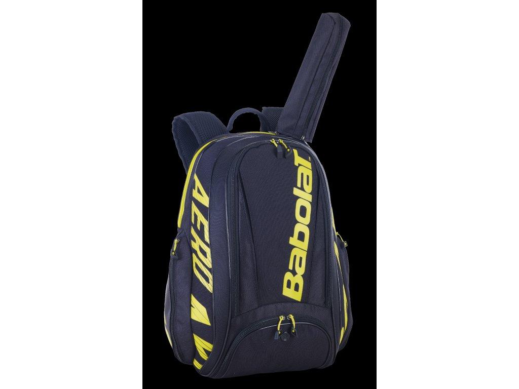 753094 BACKPACK PURE AERO 142 black yellow 3 4 backside