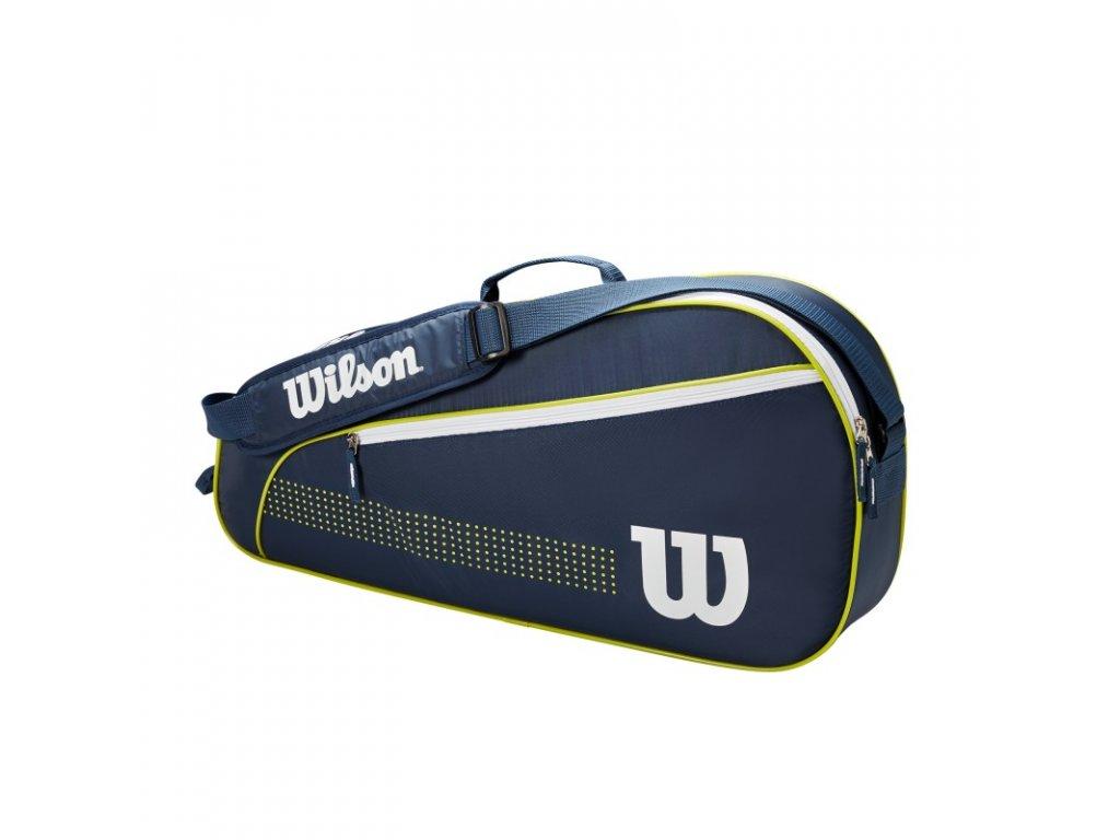 juniorska taska na rakety wilson junior 3 pack navy lime green 95553