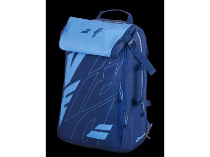 753089 BACKPACK PURE DRIVE 136 blue 3 4 face folded