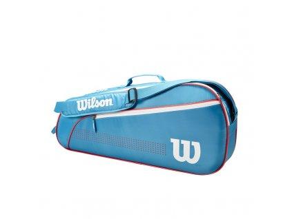 juniorska taska na rakety wilson junior 3 pack blue white 94781