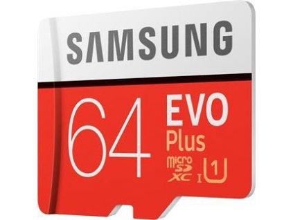 Samsung Micro SDXC 64GB EVO Plus (Class 10 UHS-1) + SD adaptér
