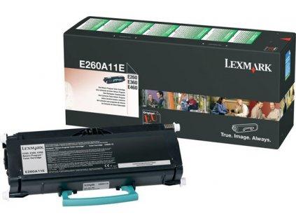 Lexmark toner černý E260A11E pro E260, E360, E460 (až 3500 stran) - return program - originální
