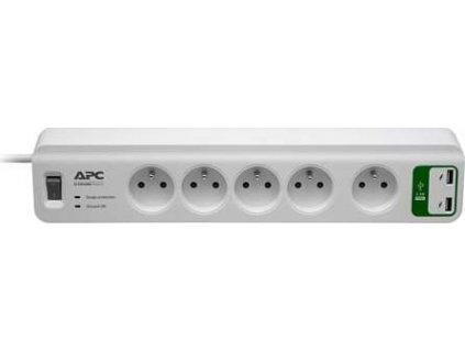 APC Essential SurgeArrest 5 outlets with 5V, 2.4A 2 port USB Charger 230V France - přepěťová ochrana 5 zásuvek 1,8m