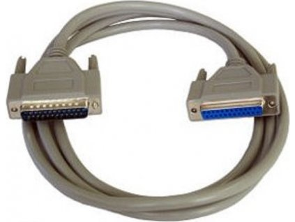 PremiumCord Kabel seriový k tiskárně 25F-25M 2m