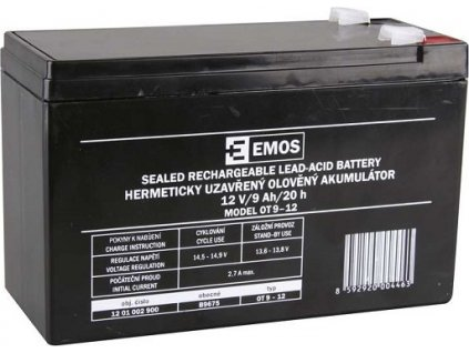 Bezúdržbový olověný akumulátor 12V 9Ah faston 6,3mm (RBC17)