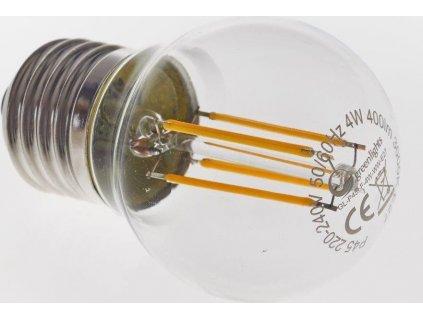 LED žárovka GREEN LIGHTS E27 Filament LED P45 4W
